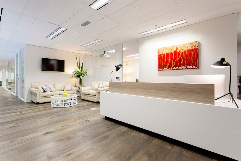 Melbourne Serviced Office Reception Fitout