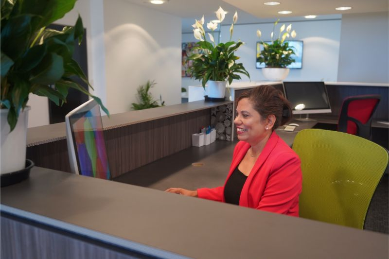 Gold Coast Serviced Office Reception